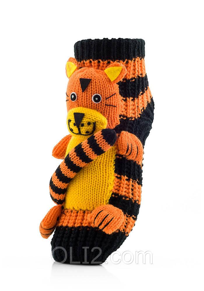 Женские детские носки ATTRACTIVE  3 D игрушка тигр