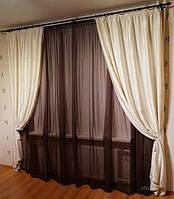 Легкие шторы с атласом   в Украине