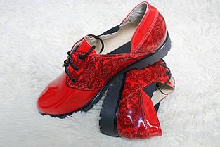 Лаковые туфли красного цвета оптом, фото 2