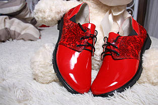 Лаковые туфли красного цвета оптом, фото 3