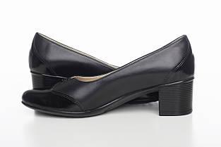 Черные лодочки на каблуке, фото 2