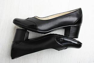 Черные лодочки на каблуке, фото 3