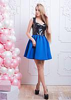 Стильное платье-бюстье из эко-кожи
