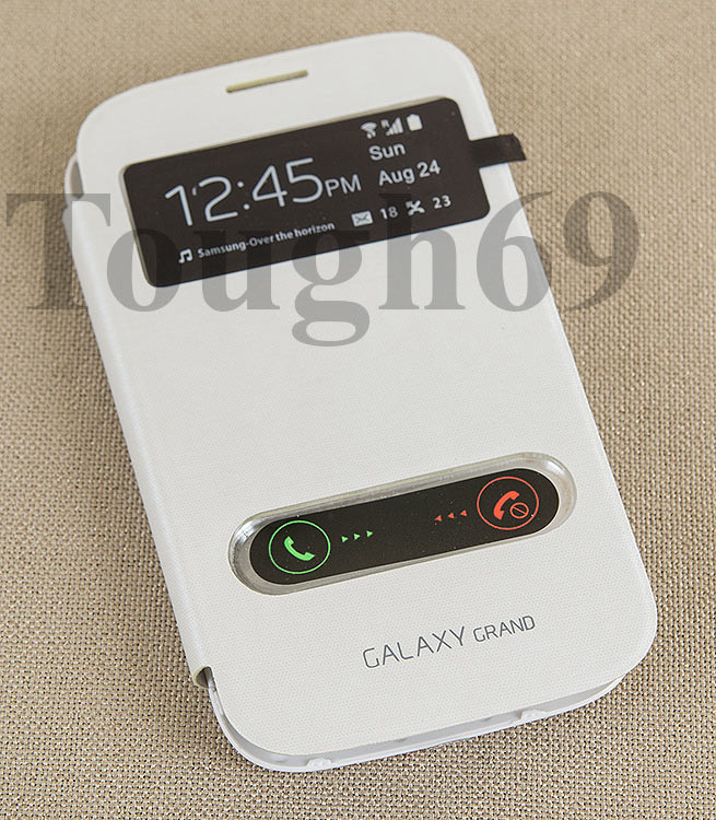 Dilux - Чехол - книжка Samsung Galaxy Grand Duos I9082  S View Cover  белый