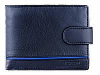 Мужской кожаный кошелек, классическое портмоне с удобными отделениями.