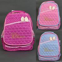 Рюкзак школьный 863 / 555-473 (50) 3 цвета, 2 отделения, 2 кармана, ортопедическая спинка