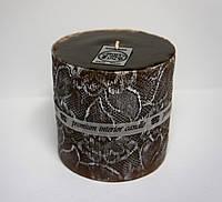 Интерьерная свеча с дизайном Н=10см Д=9,5см