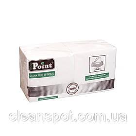 Салфетка 2сл 24см белая Eco Point