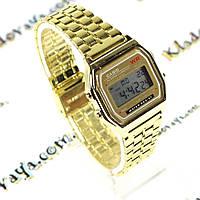 Ретро Электронные часы Casio A159W (Gold)