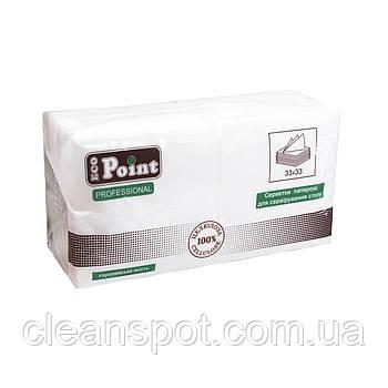 Салфетка 1сл 33см белая с тиснением Eco Point