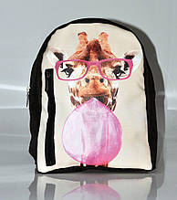 Рюкзак из экокожи большой с принтом