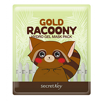 Маска для лица гидрогелевая от морщин с биозолотом Secret Key Gold Racoony Hydro Gel Mask Pack, оригинал