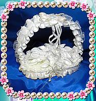 """Подушечки для свадебных колец, подставка для колец """" Лилия """" овал"""