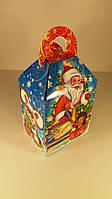 Коробка под конфеты, Дед Мороз и ежик 500гр (25шт)