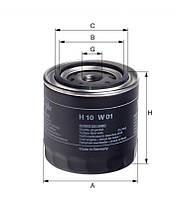 Фильтр масляный FORD, TOYOTA (производитель Hengst) H10W01
