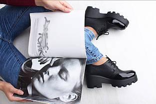 Кожаные туфли на высокой платформе, фото 2