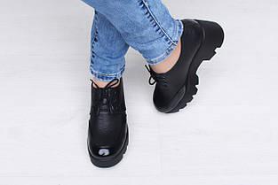Кожаные туфли на высокой платформе, фото 3