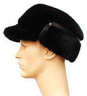 Мужская норковая шапка,Конфедератка (черная