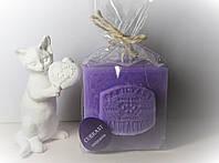 арома свеча подарочная ЭКО с ароматом Черной смородины 350гр (7х7хН=8см)