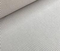 Ткань польский хлопок серая полоска мелкая 2 мм