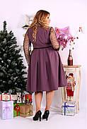 Женское шикарное платье для праздника 0665 цвет бисквит / размер 42-74 / большой размер , фото 4