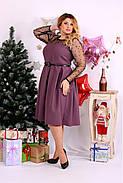 Женское шикарное платье для праздника 0665 цвет бисквит / размер 42-74 / большой размер , фото 3
