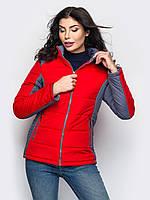 Спортивна демісезонна червоно-сіра куртка Monaris