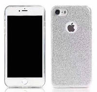Силиконовая накладка Gliter для Iphone 7/8 (Silver), фото 1