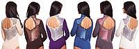 Модное боди трикотаж+кружево (S-XL в расцветках), фото 1