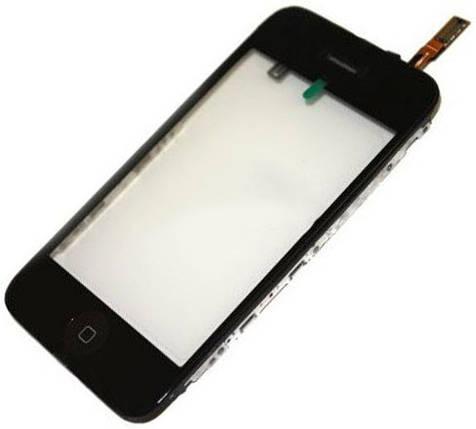 Сенсор iPhone 3G с рамкой black, тач скрин для телефона смартфона, фото 2