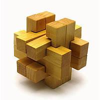 Головоломка деревянная прямоугольная 7,5х7,5х7,5 см
