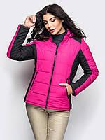 Спортивна демісезонна малиново-чорна куртка Monaris (S, M, L)