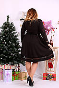 Женское платье до колена нарядное 0664 цвет шоколад / размер 42-74 / большой размер , фото 4