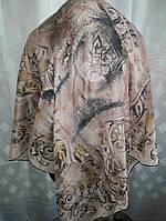 Платок шелковый Пудра