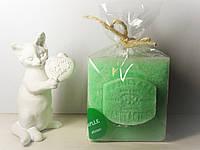 Арома свеча подарок ЭКО с ароматом Зеленого Яблока 350гр (7х7хН=8см)