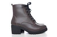 Женские зимние ботинки на не высоком каблуке 4017-04