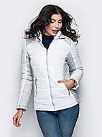 Спортивна демісезонна біло-сіра куртка Monaris