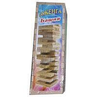 Деревянная игра-головоломка падающая башня Дженга 48 брусков
