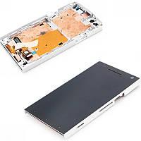 Дисплей (экран) + сенсор (тач скрин) Sony LT26i Xperia S white с рамкой (оригинал)