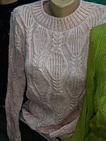 Молодежная женская вязанная кофточка