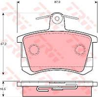 Колодка тормозная AUDI 100 (44, 44Q, C3, 4A, C4) заднего (производитель TRW) GDB1163