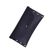 Женский кошелек на кнопке черный , фото 1