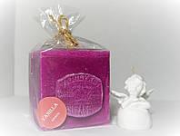 Арома свеча подарочная ЭКО с ароматом Ванили 350гр (7х7хН=8см)