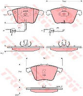 Колодка торм. AUDI A6 (4B, C5, 4F2), ALLROAD (4BH) передн. (пр-во TRW) GDB1528