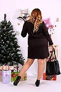 Женское прямое платье выше колена 0663 цвет шоколад / размер 42-74 / большой размер , фото 4