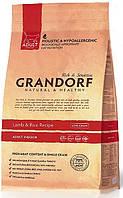 """Сухой низкозерновой корм """"Grandorf ягненок с рисом"""" 32/15 (для взрослых кошек) 2 кг"""
