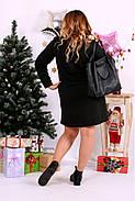 Женское платье до колена нарядное 0664 цвет черный / размер 42-74 / большой размер , фото 4