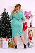 Женское нарядное платье большого размера 0662 цвет бирюза / размер 42-74 , фото 4