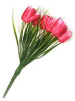 Тюльпаны искусственные, малиновые букет (25 см)