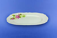 Блюдо белое цветок